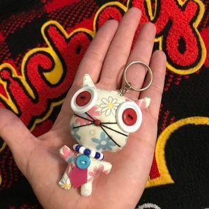 Japanese Kitty Cat Keychain